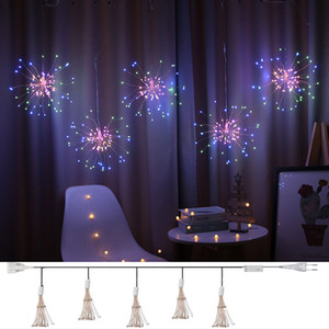Christmas Garland Fireworks Fairy lights 3M 500LEDs Garland Curtain LED String Light For Xmas new year Bedroom Decor Lighting Q1206