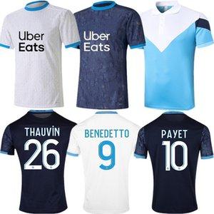 OM Marseille Payet Maillot de Football 2020 21 Thauvin Radonjic Soccer Jerseys Sanson Benpayet Benedetto Gustavo Camicia da calcio