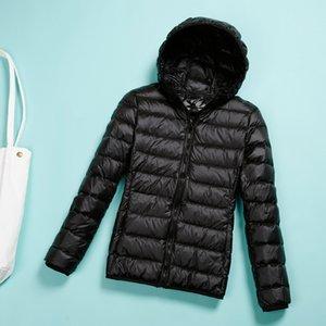 2020 2020 Veste d'hiver solide ultra-léger à capuchon à capuche chaude Femme Portable Vent Parka 2XL 3XL 5JSA
