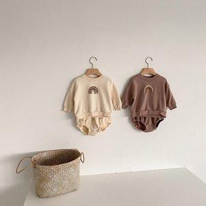 Milancel Baby Kleidung Herbst Baby Hoodies und Bloomer 2 Stück Baby Jungen Kleidung Set Niedlichen Regenbogen Infant Mädchen Anzug F1210