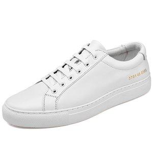 Couro branco sapatos dos homens outono Casual estilo coreano tendência All-Match Chic Board Sapatos Homens Casuais sapatos na moda