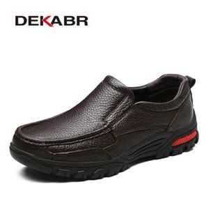Dekabr mode confortable respirant soft véritable cuir véritable mocassins chaussures hommes haute qualité casual faux hommes oxfords taille