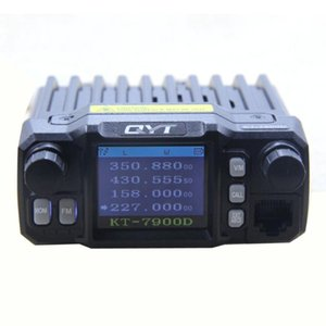 2PCS Quad Band Mobile Radio QYT KT-7900D VHF 136-174 220-270MHz UHF 350-390 400-480MHz 25W Power CTCSS  DCS Car Walkie Talkie