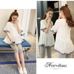 Pregnancy Pajamas Sleepwear Nursing Pregnant Woman Sling Breastfeeding Nightgown Maternity Labor Dress+Trousers Childbirth New
