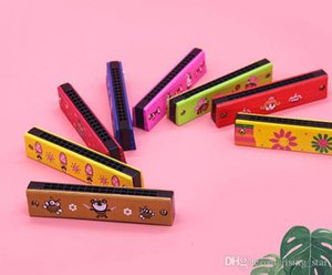 Colorful Wooden 16 Holes Tremolo Harmonica Children Musical Instrument Educational Toy Party Gift For Kids