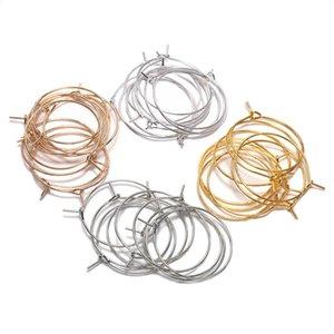 50 stücke Lot 20 25 30 35 mm KC Gold Hoops Ohrringe Big Circle Ohr Wire Hoops Ohrringe Drähte Für DIY Schmuck machen H Jllreg