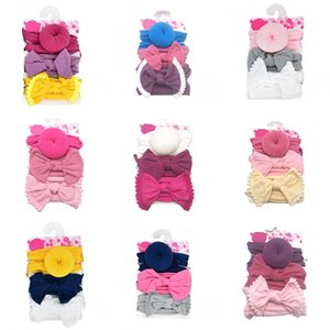 Ball Hairband Set Hairs Ties Headwears Baby Nylon Head Band Elastic Kit Scrunchie Suit Bows Hair Accessories Girls Kid 8 5qf C2