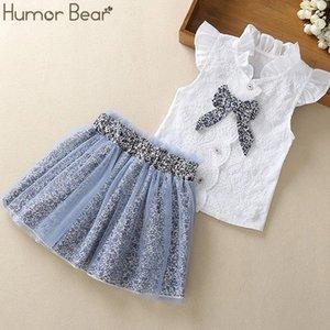 Humor Bear Fashion Love letra + pantalón 2pcs bebé chicas ropa niños dibujos animados ropa 20126