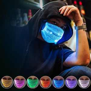 LED Light Up Face Masks Colorful Luminous Mask Prom Nightclub Glowing Mask for Halloween Christmas Party Festival Dancing Cosplay Masquerade