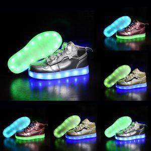 Hot 2020 Discount LED light night star outdoor Children basketball shoes boy girl youth kid sport Running basketball boots Sneaker