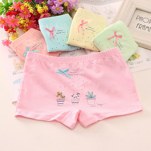 6Pcs lot Girls Cotton Panties Lovely Cartoon Printed Baby Underwear Boxer Briefs Bow Panties Soft 12 Year Old Girl Underwear Y0126