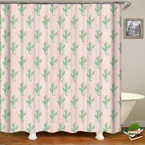 3D printing shower curtain bathroom supplies polyester waterproof fabric shower curtain with 12 hooks