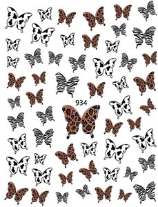 6 Sheet lot 3D Nail Art Stickers Bohemia Style Leopard Butterfly Nails Stickers Decal For Nails Art Decorations Design Manicure