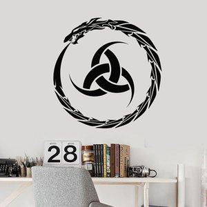 Cool Dragon Wall Decal Irish Infinity Circle Ireland Vinyl Window Stickers Kids Boy Bedroom Playroom Home Decor Wallpaper 1715