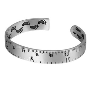 Vintage Ruler Shape Open Bangle Women Girl Footprint Bracelet Fashion Jewelry Accessories for Gift Party High Quality