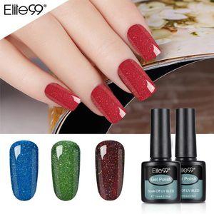 Elite99 10 мл Neon Gel Gel Glitter Bling Hybrid Gel Bling Hybrid Gelish Polish Permance UV Primer Top Cand Nail Art Polish