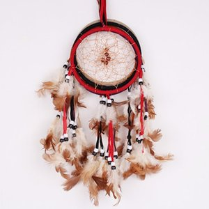 Handmade Feather Dream Catcher Originality Europe And America Art Pendants 5 Color Car Home Decoration Supplies 4 2wt BW