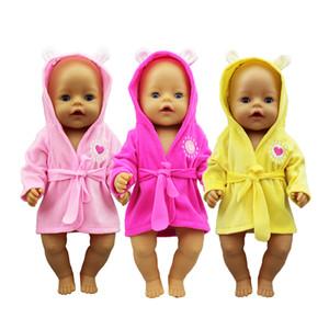 New Bathrobe Boneca Roupas Nascido Bebês Fit 17 polegadas 43cm boneca Acessórios para bebê festiival presentes bonecos traje