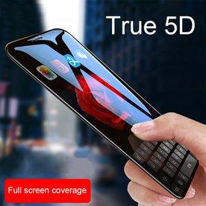 XR XS X MAX 5D Cep Telefonu Koruyucu için Soğuk Oyma Tam Ekran Kaplı Temperli Cam Film I8 IX Filmler