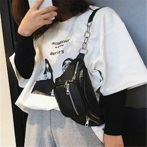 الخصر حقيبة حقيبة الصدر المرأة عالية الجودة بو الجلود أكياس الأزياء عالية السعة عارضة سلسلة فاني حزمة الذكور crossbody