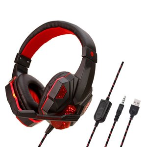 2020 SY830MV Deep Bass Game Headphone Stereo Over-Ear Gaming Headset Headband Earphone with MIC Light for Computer PC Gamer