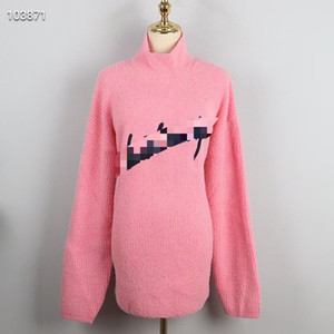 1215 freies verschiffen 2020 herbst marke selben stil reguläre langarm rosa crew neck kint pullover pullover frauen kleidung qian