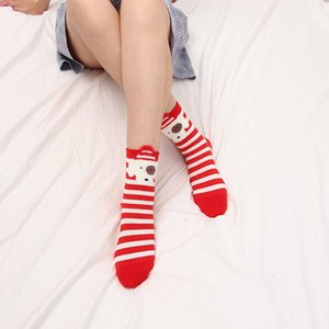 New Products Ladies Socks Cotton Christmas Socks Winter New Year Santa Claus Christmas Tree Elk Color Cute Velvet Wool Socks