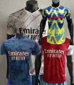Version du joueur Gunners Jersey Jersey Pepe Arsen Nicolas Ceballos Saka Willian Thomas Tierney 2020 2021 Football Shirt serré