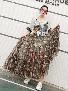 2020 Summer Eagle and Camouflage Print Army Green Holiday Dress Letter Sequined Mesh Patchwork Dress High Street Vestidos