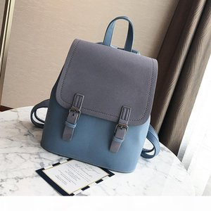 Designer-2020 New Women Backpack Contrast Color Fashion Shoulder Sac Female School Bags Large Capacity PU Leather Backpacks Travel Bag
