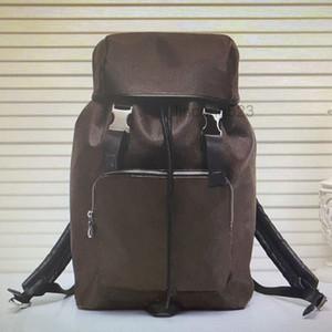 M43422 zack mochila couro homens viagem sacos mochilas moda clássico capa gravata corda mochila grande capacidade de alpinismo esporte hasp saco