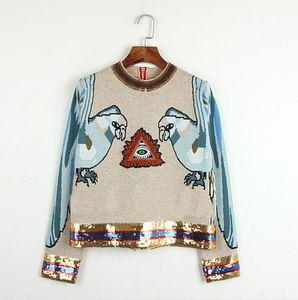 815 3XL envío gratis 2020 otoño marca el mismo estilo manga larga regular cuello kint lentejuelas suéter vestido mujer ropa taobao