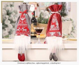 Faroot Merry Christmas Süslemeleri Ev Yaratıcı Şarap Şişesi Kapağı Rudolph Xmas Süs Mutlu Yeni Yıl 20201