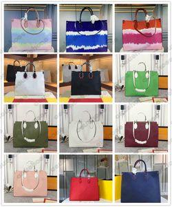 Crafty borse a spalla gigante in onthego GM Donne Shopping Bags Pelle Anvas Grande capacità Tie Dye Vintagetote Borsa Borsa Duplex Stampa Toron