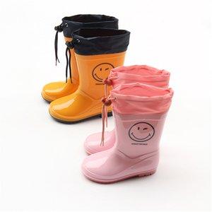 Scarpe per bambini Nuova moda classica Scarpe per bambini in PVC Gomma Bambini Baby Rain Boots Skid-Proof Boys Ragazzi Ragazze Bambini Slip-on Rainboots Q1216