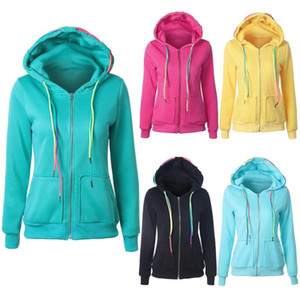 Women's Oversized Hoodies Solid Stitching Drawstring Sweatshirt Fashion Slim Warm Coat Outwear Comfortable And Loose Hooded Tops