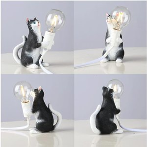 Nordic creative living room bedroom clothing shop decorative animal table lamp Mini Cat lamps