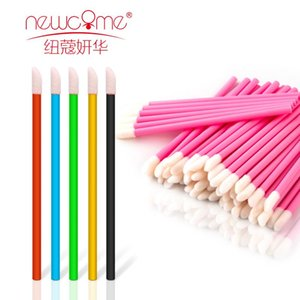 NEWCOME 50 100PCS Disposable Lip Brush Cleaning Lipstick Mascara Wands Applicator Lip Brushes Gloss Brushes Makeup Tools