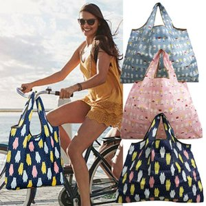 2020 Foldable Shopping Bag Folding Reusable Grocery Machine Washable Carry Waterproof Bags