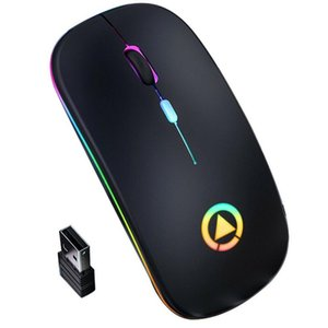 Computer Accessories 2.4GHz Wireless Optical Mouse Mute Mice USB Rechargeable RGB Ergonomic Optical Silent Gaming Mouse For PC