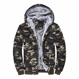 Sudaderas Hombre 2020 Brand Clothing Camouflage Hoodies Tracksuits Velvet Fleece Thick Camo Mens Hoodies and Sweatshirts Y1121