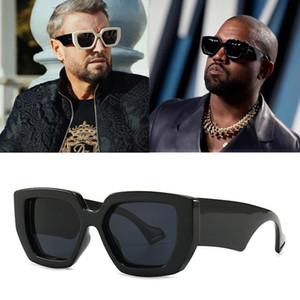 2021 Yeni Moda Tasarımcısı Boy Çokgen Güneş Gözlüğü Erkekler Vintage Kalkanı Serin Ins Kadınlar Güneş Gözlükleri UV400