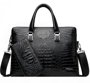 New Hot Sale Brand Briefcase Designer Men Laptop Bag Black Designer Handbag Business Men Laptop Bag Messenger Bag $y565g4