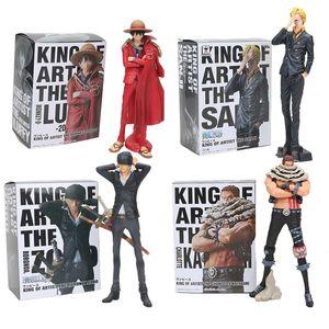 One Piece Action Figure Luffy Sanji Zoro Charlotte Katakuri Chopper USOPP King of Artist Koa PvC Рисунок Модель Игрушка Y200421