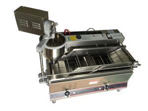 Double rangée automatique électrique et gaz une machine de beignet machine de beignet électrique machine de beignet machine de fabricant de fabricant de machine de beignet1