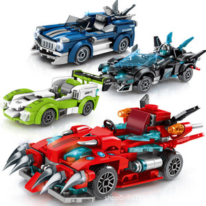 Toy Decoration Racing building blocks children's small particles puzzle assembled sports car model toys children's gifts