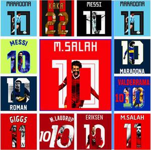 soccer namesets for jersey gallery printing maradona lampard salah messi iniesta xavi eriksen roman giggs kaka cantona zola baggio neymar jr