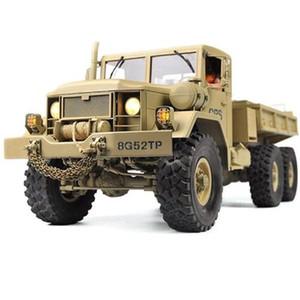 RC Truck Rock Crawler US военный транспортер внедорожник 4WD тактическое 2.4G транспортные средства дистанционного управления Модель игрушки для детей подарки 201226