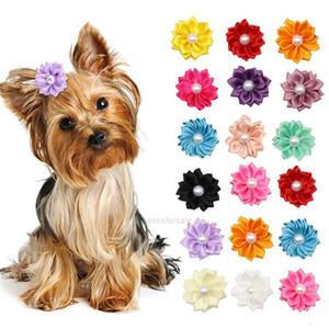 Pet Çiçek Köpek Saç Köpekleri Yaylar Uzun Saç Yaylar Lastik Band Kedi Yavru Saç Klipleri Pet Bakım Yay Köpek Aksesuarları J5VA