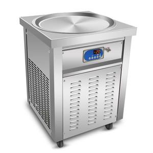 ETL CE Кухня Одноразовый Круглый 50 см Pan Share Тайская жареная мороженое Кребенное машина Закуска Пищевое оборудование, Автоматический размораживание, с хладагентом